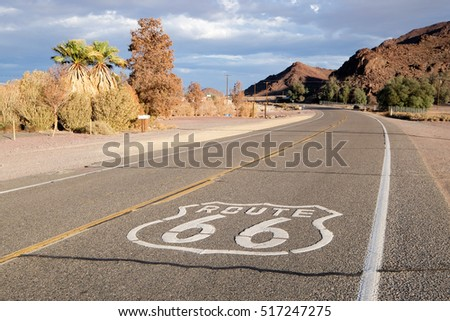 The mythical Route 66 in the USA #517247275