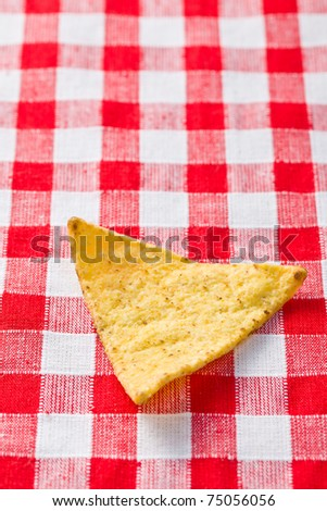 the nachos chips on checkered table