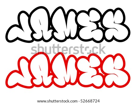 The Name James In Graffiti Style Stock Photo 52668724 : Shutterstock
