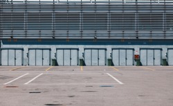 The National Autodrome of Monza - Pit Stop Lines and Garage Area in an Empty Race Track - Monza Circuit in Lombardy - Italy 2