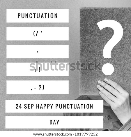 the national day of punctuation  Foto stock ©
