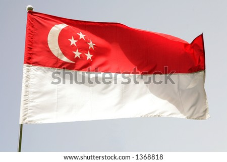 Singapore National Flag Picture on The National Flag Of Singapore Stock Photo 1368818   Shutterstock