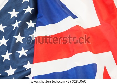 The national flag of the United Kingdom UK and United States of America USA #293291060