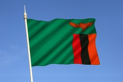 The national flag of Zambia was adopted on October 24 1964.