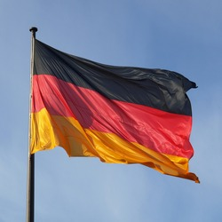 The national German flag of Germany (DE)