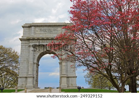 The National Memorial Arch Monument Dedicated To George Washington And The United States
