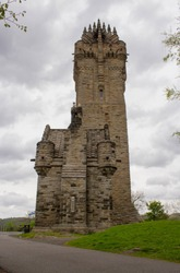 The National Wallace Monument a Tower Standing on the Shoulder of the Abbey Craig, a Hilltop Overlooking Stirling in Scotland. It Commemorates Sir William Wallace, a 13th-century Scottish Hero.