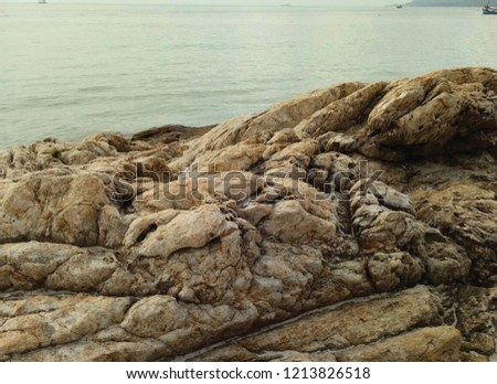 The nature of the rocks by the sea. #1213826518