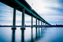 The Naval Academy Bridge, over the Severn River in Annapolis, Maryland.