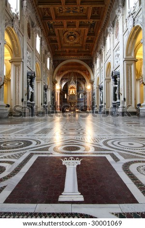 The nave of Basilica St John Lateran, Rome