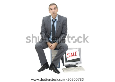 The needy businessman sells office technology