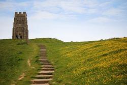 The Neolithic Glastonbury Tor, Avalon, Somerset, England, UK