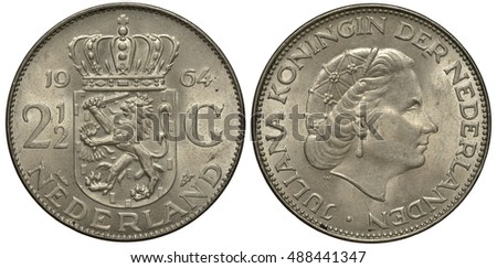 the netherlands  dutch coin two ...