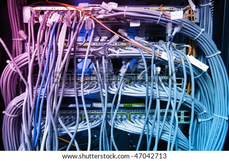 The network cable in the service room