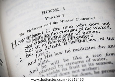 The New American Standard Bible Open To Psalm One
