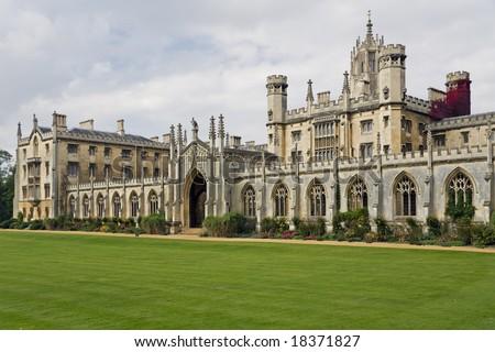 The New Court St John's College at Cambridge University