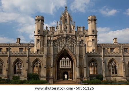 The New Court St John's College at Cambridge University. Cambridge. UK.