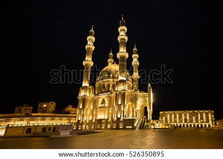 The new Heydar Mosque in Baku, Azerbeijan.