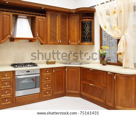 The new kitchen room, modern design
