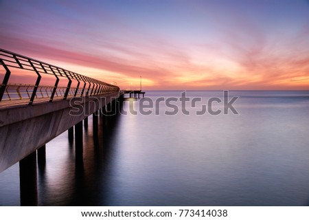 The new Lorne jetty, photographed from the old jetty. #773414038