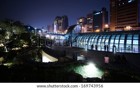 the new MRT station (Daan Park Station) in Taipei