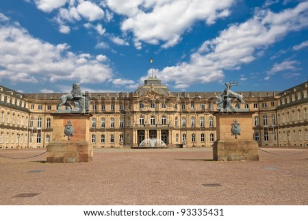 the new palace das neue schloss which stands on schlossplatz in stuttgart germany stock. Black Bedroom Furniture Sets. Home Design Ideas