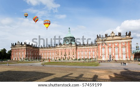 The New Palace in Potsdam Germany on UNESCO World Heritage list