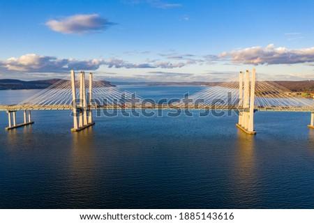 The New Tappan Zee Bridge (The Governor M. Cuomo) spanning the Hudson River in New York. Stockfoto ©