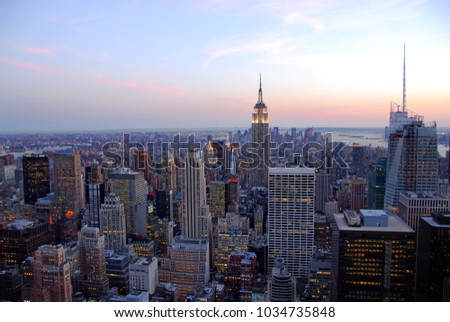 The New York City. Skyline at afternoon #1034735848
