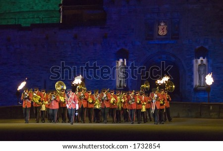 photo : The New Zealand Army Band at the 2006 Edinburgh Military Tattoo