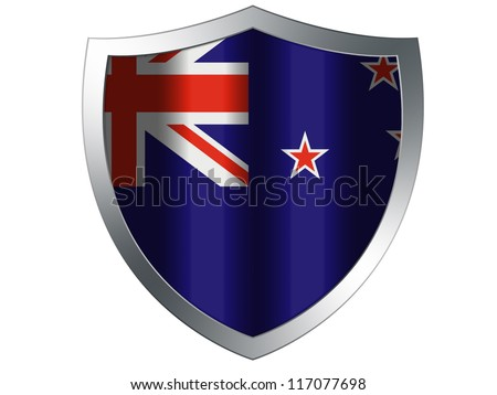 The New Zealand flag painted on  protection shield