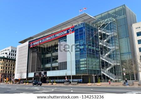 The Newseum building in Washington DC, United States