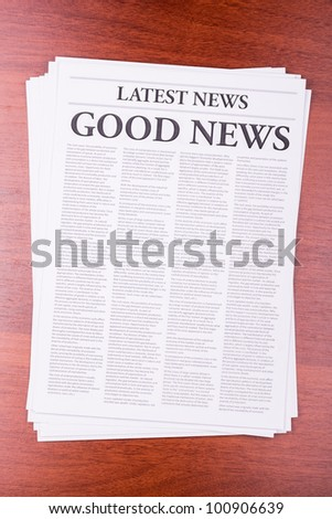 The newspaper LATEST NEWS with the headline BIG NEWS