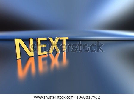 the next text on a blue background. 3D rendering
