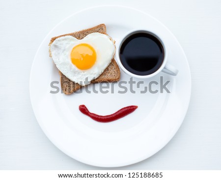 The nice breakfast with love