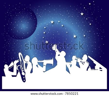 The night music - stock photo