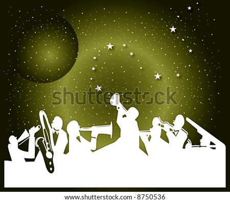 the night music - stock photo