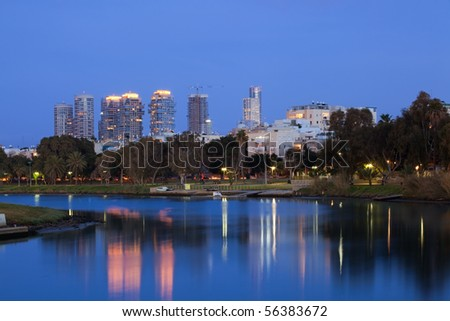 The night Tel Aviv city