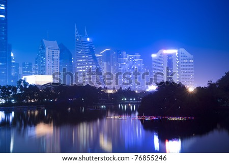 the night view of shenzhen special economic zone,China