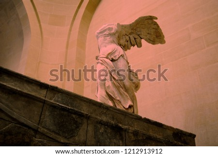 The Nike of Samothrace is breathtaking statue situated inside the Louvre Museum.