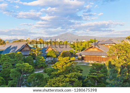 The Ninomaru Palace served as the residence and office of the shogun during his visits to Kyoto. Surviving in its original form, the palace consists of multiple separate buildings.  #1280675398