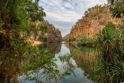 The Nitmiluk Gorge, Nitmiluk National Park, Katherine, Northern territory, Australia.