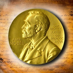 The Nobel Prize. The award of the year. The best reward. Gold Award Nobel