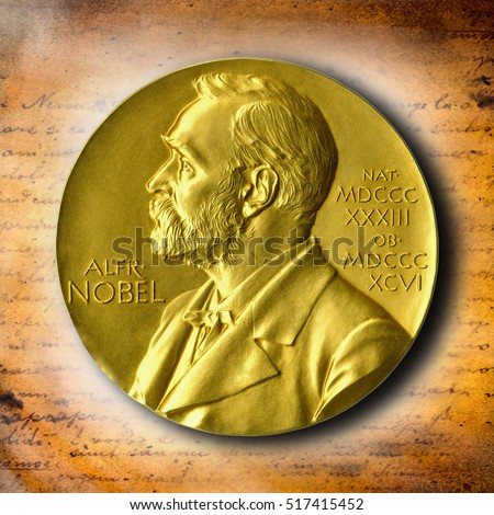 The Nobel Prize. The award of the year. The best reward. Gold Award Nobel #517415452