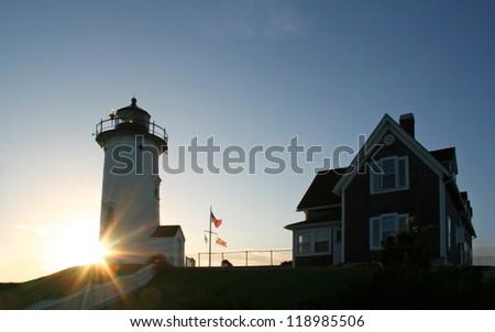The Nobska Lighthouse in Cape Cod Massachusetts