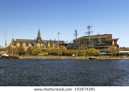 Photo of  The Nordic Museum and Vasa Museum is museums located on Djurgarden island in central Stockholm, Sweden
