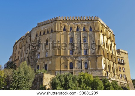 The Normans' Royal Palace in Palermo, Sicily. - stock photo