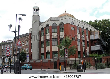 The North London Central Mosque, also known as the Finsbury Park mosque, in Finsbury Park, London, photographed on Wednesday 30 July 2014
