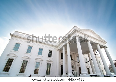 The North Portico of the White House in Washington, D.C.