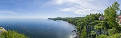 The north shore of Lake Superior from Split Rock Lighthouse.